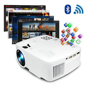 Wireless 1080P HD 5000 Lumens LCD Projector Home Theater Cinema Android HDMI USB