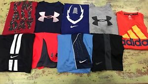 Boys YSM Small Under Armour Nike Shorts Shirts Outfit Lot