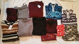 Women's Size Small-Med Lot Of Rue 215 Sweaters5 Leggings2 WorkOut Shirts-12 I