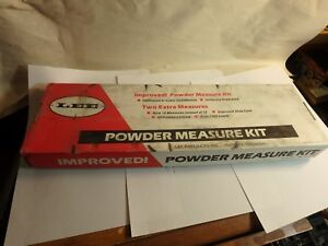 complete LEE precision powder measuring kit with slide chart