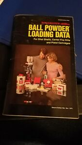 Ball Powder Loading Data manual for guns by Winchester Western 1976