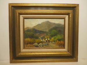 9x12 original 1930 oil painting on canvas by Rolla Taylor of