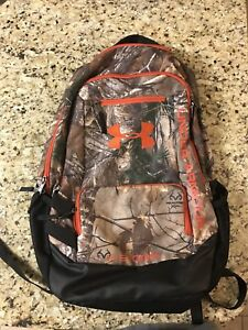 Under Armour Camo Hustle Backpack Realtree Ap-XtraDynamite Storm