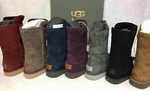 Ugg Italian Luxe Collection Abree Short Shearling Boots 1009250 Women#x27;s