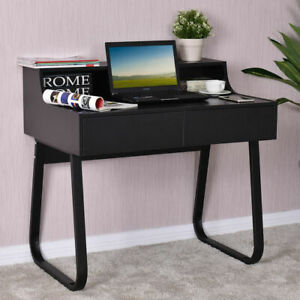 Computer Desk PC Laptop Study Writing Table Workstation w 2 Drawers Home