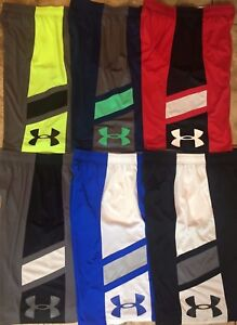 Boy's Youth Under Armour Heat Gear Loose Fit Athletic Shorts