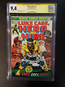 HERO FOR HIRE 15 CGC 9.4 DOUBLE COVER SS STAN LEE CAGE GOES WILD LK  IT
