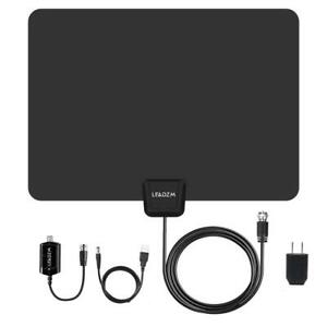 100Mile 1080P HD Digital Indoor Amplified TV Antenna HDTV with Amplifier VHFUHF