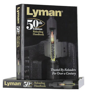 Lyman Reloading Manual 50th Edition Load Data Handbook Guide Book Hardcover Info