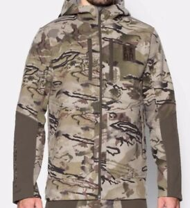 NEW Under Armour Ridge Reaper 13 Hooded Camo Hunting Jacket Mens S $300 Barren