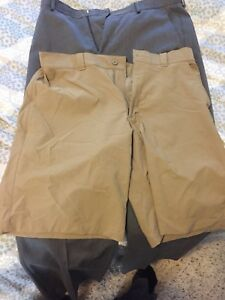 Under Armour Men's Match Play Golf Shorts Size 34 Canvas Khaki Tan MSRP $64.99