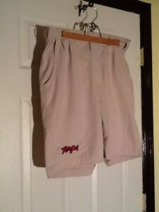 Under Armour Men's Maryland Terps Golf Shorts Size 34 Tan EUC