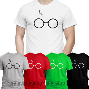 LIGHTNING GLASS HOGWARTS LEVIOSA MAGIC GLASS WIZARD DEATHLY HALLOWS T SHIRT TOP GBP 6.99