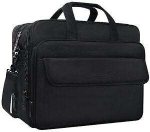 Taygeer 17.3 Inch Laptop Bag Expandable Multi-functional Business Briefcase On
