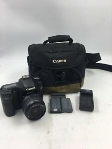 CANON EOS 50D 15.1MP DSLR CAMERA - BLACK WITH EF-S 18-55MM LENS 3 BA (S03034617)