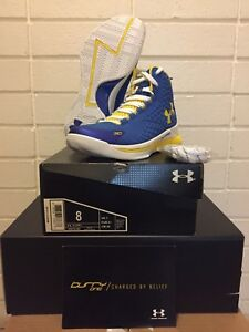 under armour curry 1 home royal taxi curry one 1258723-402 size 8