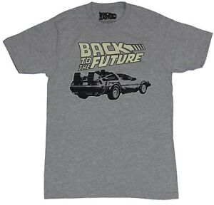 Back to the Future Mens T Shirt Delelorea Under Yellow Logo Image $14.99