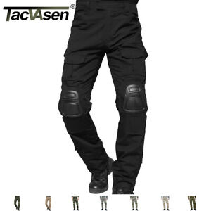 TACVASEN W Knee Pads Mens Tactical Combat Army Military Pants Cargo Trousers