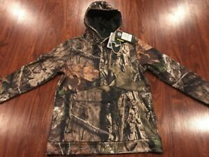 Under Armour UA Logo Camo Hunting Hoodie Sweatshirt Mossy Oak Large L Boys