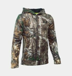 NEW Under Armour Storm 1 Mossy Oak Camo ColdGear Water Resistant Hoodie Jacket