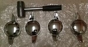 2 BAR Spinners Chrome swept Knock Offs KOff Wire Wheel With Lead Hammer koff