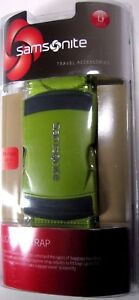 Samsonite Luggage Strap Belt Travel Accessory Neon Green ABS Buckle $19.95