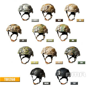 FMA Camouflage Tactical TWF EX Ballistic Mountaineering Helmet Airsoft Paintball