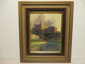 8x10 org. 1930 oil painting on board by Rolla Taylor of