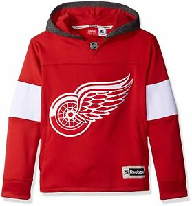NHL Youth Boys 8-20 Red Wings Faceoff Jersey Hood L14-16