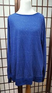 NWT Women's 2XL CHAMPION Duo Dry Blue Long sleeve Shirt