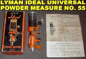 *LYMAN IDEAL POWDER MEASURE NO. 55* in ORIGINAL BOX with INSTRUCTIONS!