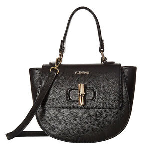 New Valentino by Clarissa Shoulder Bag in Black Lush Genuine Leather #VA7118