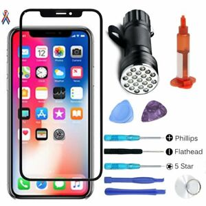 For iPhone X XR XSMAX Replacement Front Outer Touch Screen Glass Len Repair Tool
