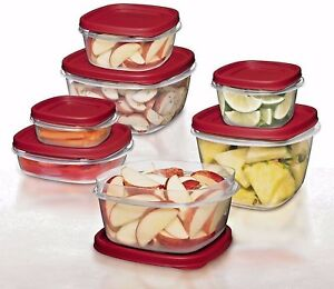 0.5 1.25 2 3 5 7 cups Rubbermaid BPA FREE Plastic Food Storage Containers Set $11.99