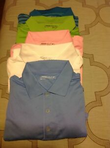 Nike Fit-Dry Men's Golf Short Sleeve Polo Shirt Size 2XL - NEW (5 shirts total)