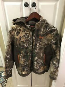 Under Armour Cold Gear Storm Realtree Camo Zip Hoodie Jacket Youth Extra Large