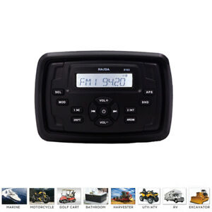 Waterproof Motorcycle Head Unit Boat Radio Bluetooth Audio Receiver for Car USB