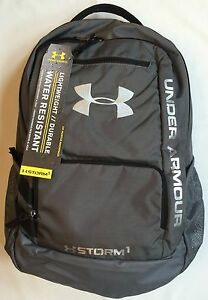 NWT YUOTH backpack UNDER ARMOUR UA Hustle STORM water resistant school bag
