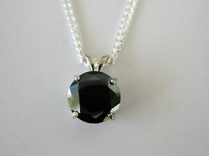 3.95ct REAL NATURAL BLACK DIAMOND PENDANT NECKLACECOAFREE DIAMOND TESTERLOOK