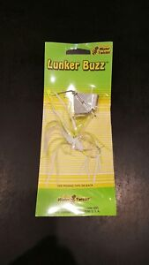 Lunker Buzz Mister Twister 1 4 oz White Chartreuse
