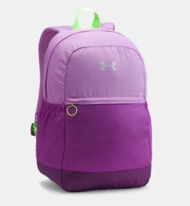 New Under Armour Girls Favorite Backpack Purple Green