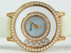 Chopard Happy Diamonds Icons Watch 18K Rose Gold All Original Diamonds With Box