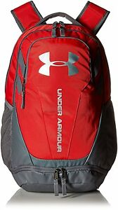 Under Armour UA Hustle 3.0 Backpack w Laptop Sleeve Red Sports School Bag