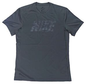 Nike DRY  Fitted Training Shirt Gray Black Camo Large New Gym Dri-Fit