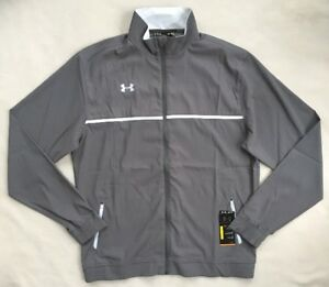 UNDER ARMOUR Mens Win It Full Zip Warm Up Jacket Grey 1246155 NWT XLT XL TALL