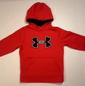 Under Armour Boys Youth Hoodie Sweatshirt Red Storm Jumbo Logo Pouch Small 78 S