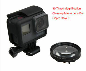52MM 10 Times Magnification Close-up Macro Lens+adapter for Gopro Hero56
