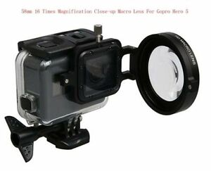 58MM 16 Times Magnification Close-up Macro Lens+adapter for Gopro Hero56