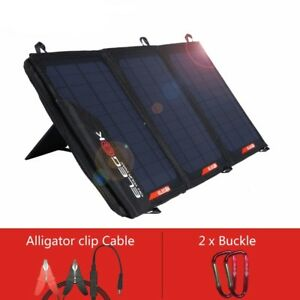 21W Solar Panel Charger 5V  18V USB DC Dual Output With Storage Bag Phone GoPro