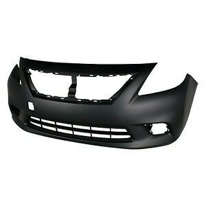 Replacement Bumper Cover for 12-13 Nissan Versa (Front) NI1000284C